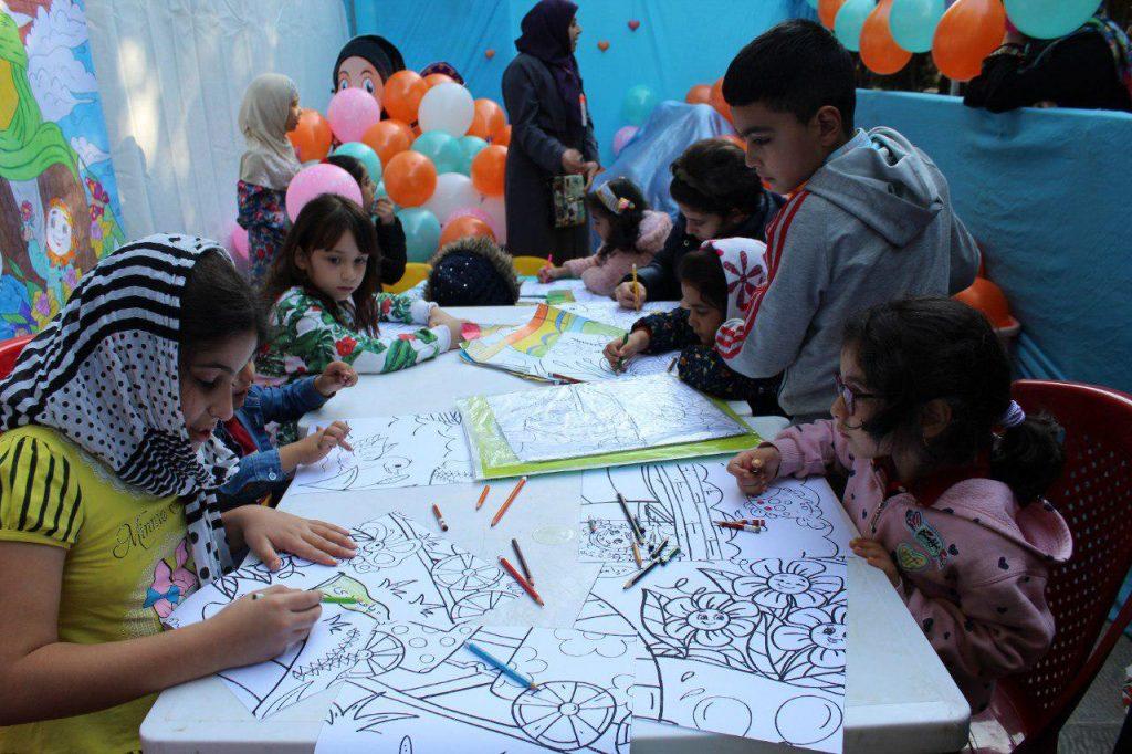 غرفه کودک در مراسم عید بیعت